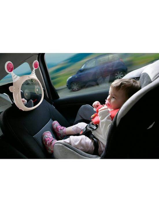 Carseat Accessories & Isofix Bases Oly Car Mirror – Beige Pitter Patter Baby NI 6