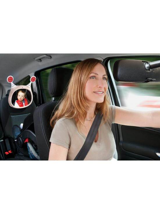 Carseat Accessories & Isofix Bases Oly Car Mirror – Beige Pitter Patter Baby NI 7