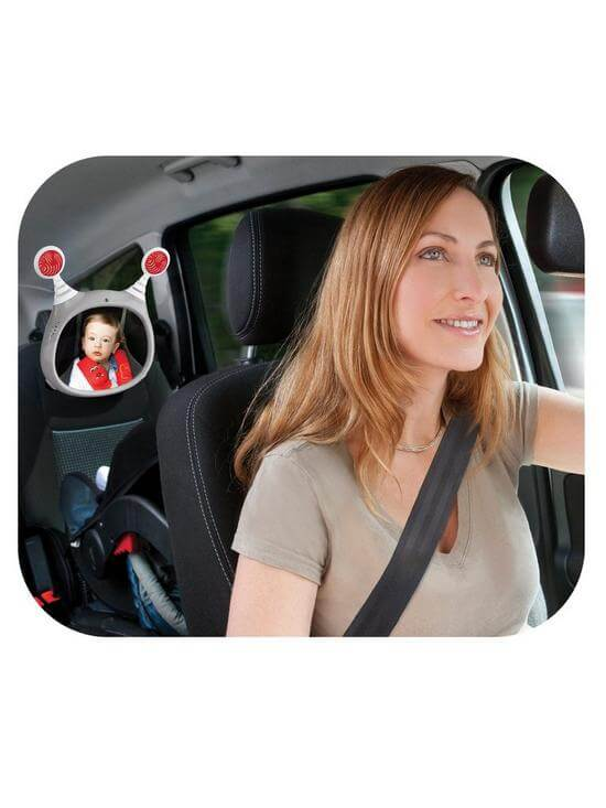 Carseat Accessories & Isofix Bases Oly Car Mirror – Grey Pitter Patter Baby NI 6