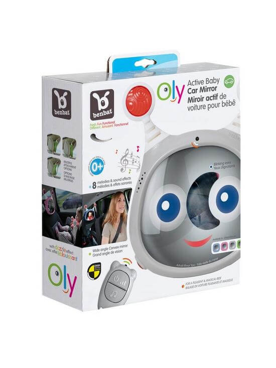 Carseat Accessories & Isofix Bases Oly Car Mirror – Grey Pitter Patter Baby NI 8