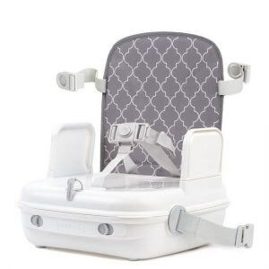 Booster Seats Benbat Yummigo Booster/Feeding Seat with Storage Compartments – Grey/White Pitter Patter Baby NI