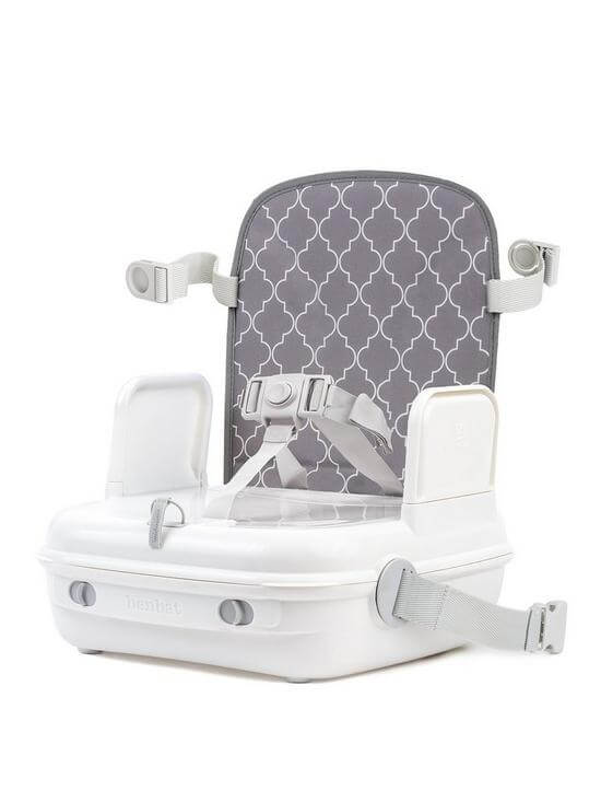 Highchairs Benbat Yummigo Booster/Feeding Seat with Storage Compartments – Grey/White Pitter Patter Baby NI 4