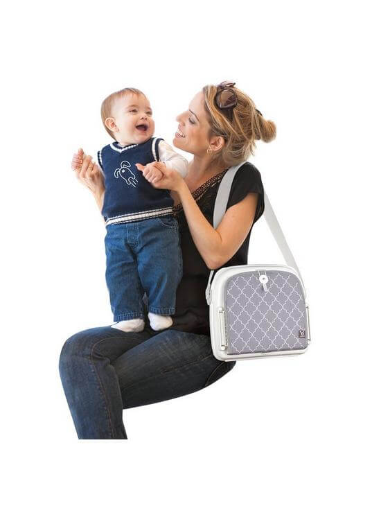 Highchairs Benbat Yummigo Booster/Feeding Seat with Storage Compartments – Grey/White Pitter Patter Baby NI 7