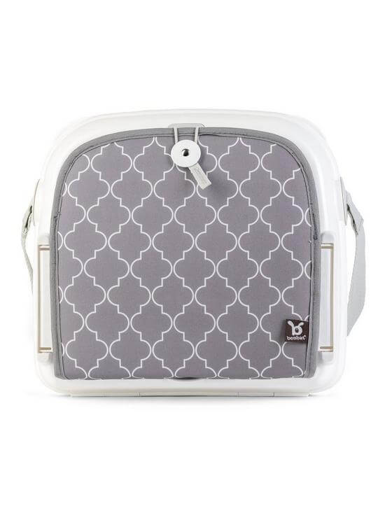Highchairs Benbat Yummigo Booster/Feeding Seat with Storage Compartments – Grey/White Pitter Patter Baby NI 8