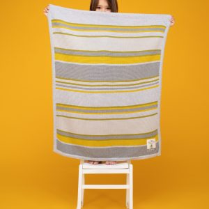 Blankets & Sleeping Bags Cosatto Knitted Stripe Blanket – Grey/Yellow Pitter Patter Baby NI
