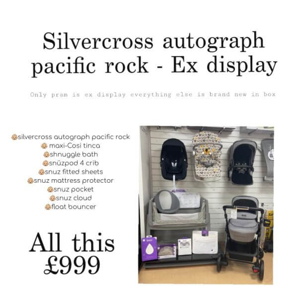 Clearance & Ex Display Silvercross Autograph bundle Pitter Patter Baby NI 3
