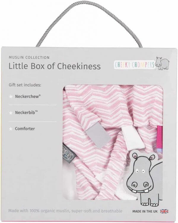 Teething Cheeky Chompers – little box of of cheekiness -Rosy days Pitter Patter Baby NI 3