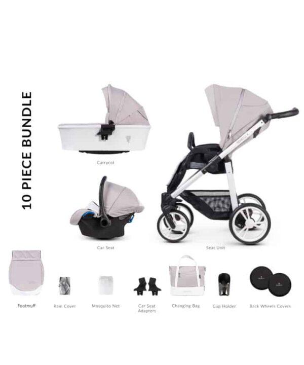 Travel Systems Venicci Pure 2.0 Vanilla Pitter Patter Baby NI 5