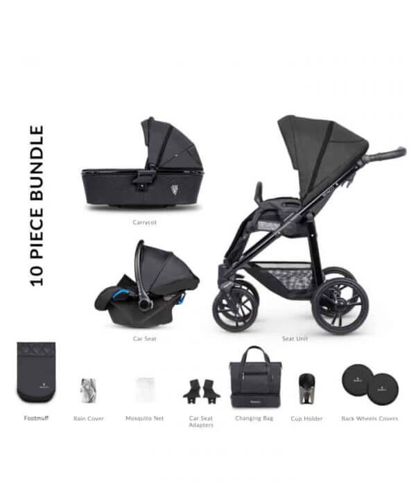 Travel Systems Venicci Shadow 2.0 Charcoal Pitter Patter Baby NI 5